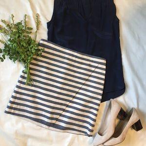Jcrew Striped Skirt